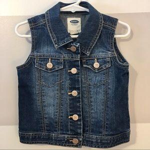 Girls Old Navy Jean Vest